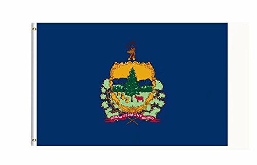 Vermont US State Flag Banner 3Ft x 5Ft Polyester Printed With Grommets