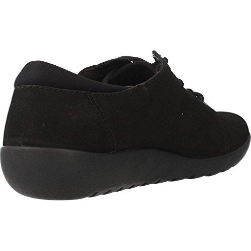 CLARKS Clarks Womens Shoe Medora Bella Black Nubuck