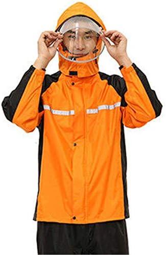 メンズ/レディース防水ジャケットセット レインコート&パンツスーツ防水スプリットオートバイバイクマウンテンバイクボディアンチ嵐雨乗馬はテイクアウトのレインコートのジャケットの1セット (色 : C3, サイズ : L)