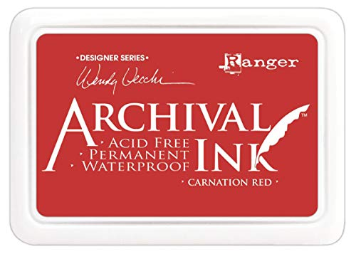 Ranger Wendy Vecchi Designer Series Archival Ink Pad, Carnation Red