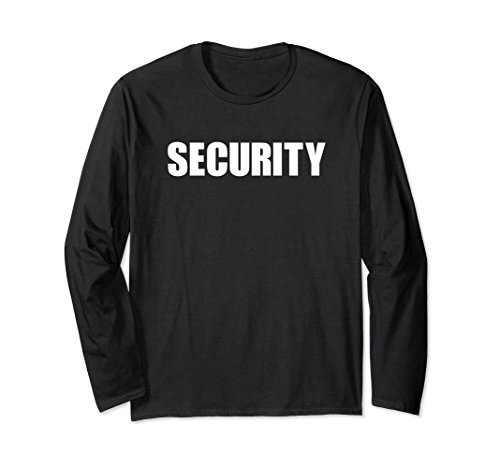 Unisex Security Guard Officer Uniform Shirts Two Side Print Medium Black (Ring Bearer Watch)