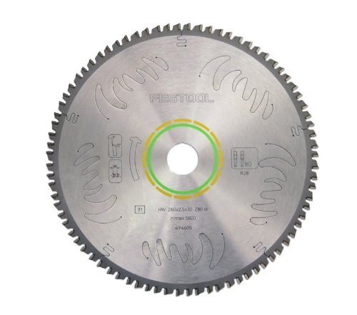 Festool 495387 Fine Tooth Cross-Cut Saw Blade For The Kapex Miter Saw, 80 Tooth (Thin Cut Fine Kerf Cross)