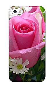 New Diy Design Pink Rose For Iphone 5/5s Cases Comfortable For Lovers And Friends For Christmas Gifts