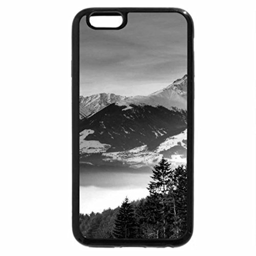 iPhone 6S Case, iPhone 6 Case (Black & White) - mist in the valley at sunrise