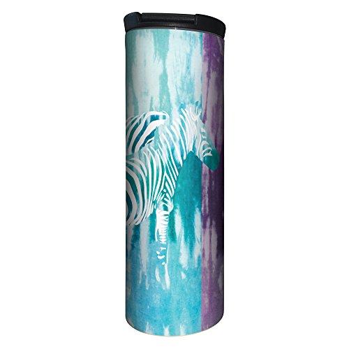 Tree-Free Greetings BT20092 Barista Stainless Steel Travel Coffee Mug Tie Dye Zebra - Tie Dye Zebra