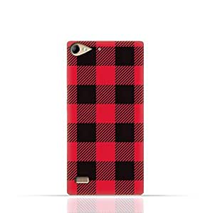 Lenovo Vibe X2 TPU Silicone Case with Red and Black Plaid Fabric Design