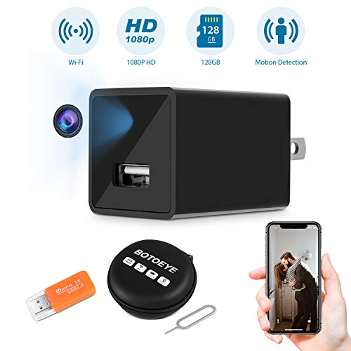 Hidden Spy Camera, Home Security Camera with WiFi, 1080P HD Wireless IP Surveillance Camera with 110° Wide-Angle Lens, Nanny Cam with Activity Detection Alert, Remote Monitor with iOS, Android App by BOTOEYE