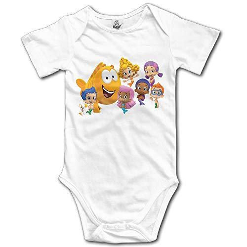 Bubble Guppies Logo Custom Baby Girl Boy Jumpsuit Cotton White