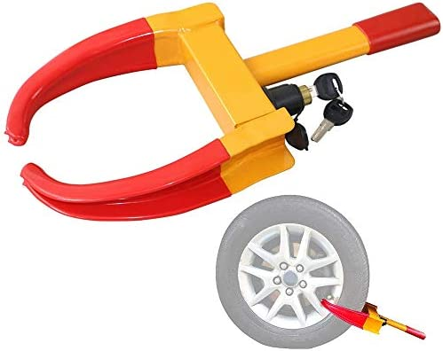 Theft Protective Vehicle Wheel Lock Zone Tech Security Tire Lock Clamp Boot Tire Claw Premium Quality Heavy Duty Anti