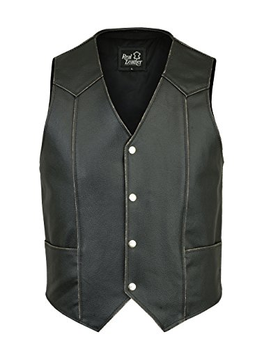 Herren Lederweste, LEATHER Waist Coat Cowhide. Eagle Biker Weste EMBOSE LIVE TO RIDE