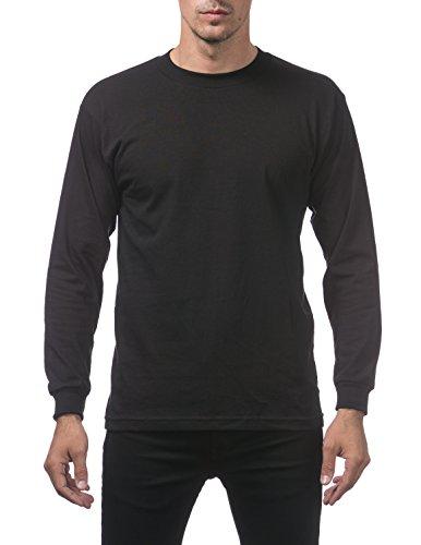 Pro Club Men's Comfort Cotton Long Sleeve T-Shirt Large - Black Shirts Pro T