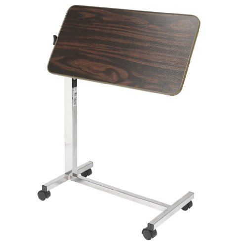 Drive Medical Tilt Top Overbed Table, Walnut by Drive Medical (Image #2)