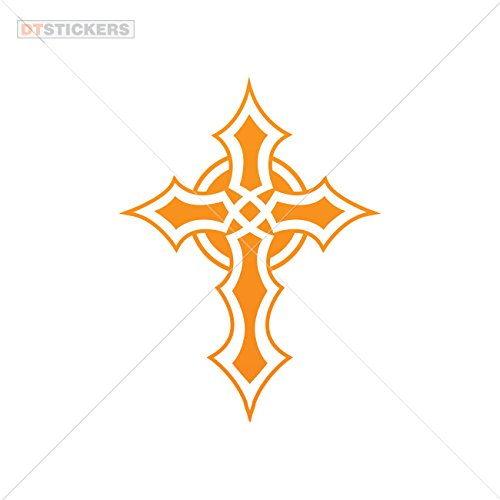 Sticker Celtic Cross durable Boat (7 X 5,30 In. ) Orange