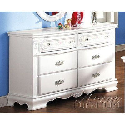 ACME 01685 Flora Dresser, White Finish - Flora White Finish