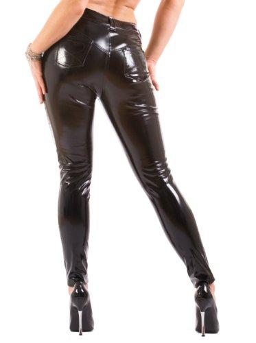 Poches PVC Noir Jeans Frontale avec Arrire en Honour et Sexy xwvqfwa