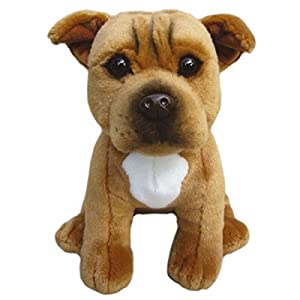 """Staffordshire Bull Terrier (Red) Soft Toy 12""""- Collectible Stuffed Plush Animal- Cute Dog- Amazing Toy 12"""