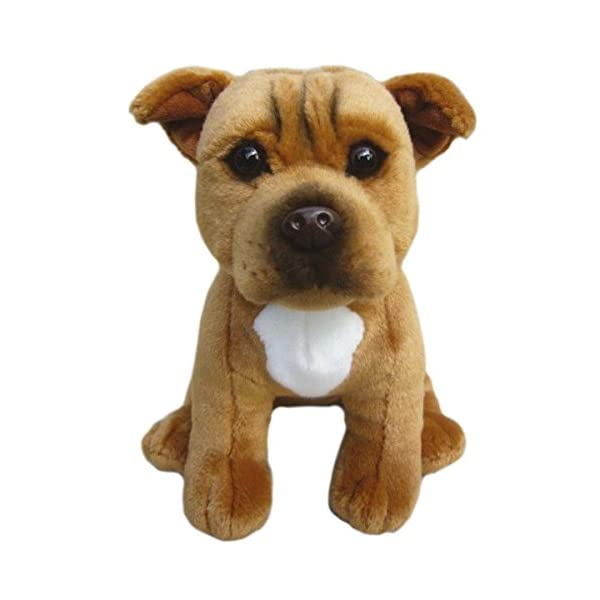"""Staffordshire Bull Terrier (Red) Soft Toy 12""""- Collectible Stuffed Plush Animal- Cute Dog- Amazing Toy 1"""