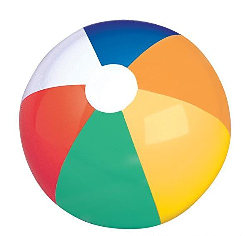 24'' MULTICOLORED BEACH BALL, Case of 72 by DollarItemDirect