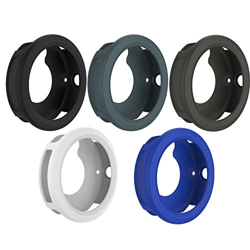 for Garmin Vivoactive 3 Watch Protective Case,RunTech Soft Silicone Case Cover Protector Sleeve for Vivoactive 3 Band Cover (5-Pack)