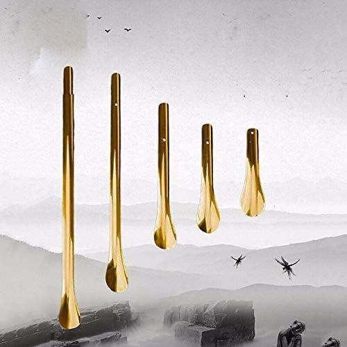 軽量 金属ロングシューホーン用ブーツエクストラロングハンドル真鍮靴ヘルパー 耐用 (Color : Gold, Size : 20cm)