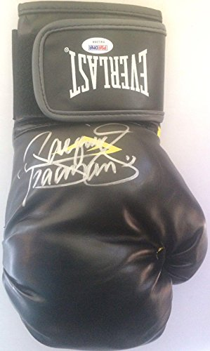 Manny Pacman Pacquiao Signed Black Everlast Boxing Glove COA Autographed - PSA/DNA Certified - Autographed Boxing Gloves