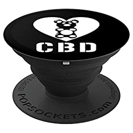 CBD Gummies Bear Heart | CBD Cures & Heals Not High Gift PopSockets Grip and Stand for Phones and Tablets