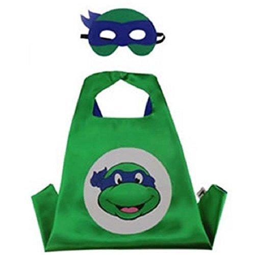 Superhero CAPE & MASK SET Kids Childrens Halloween Costume TMNT Leonardo -