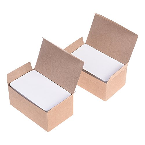 BCP 200pcs White Color Paper Message Business Gift Card Word Card 3.5 x 2 inches - Card Flat 3