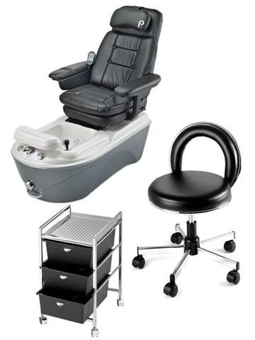 Pibbs PS94 Anzio Pipeless Pedicure Package (Pedi Cart)