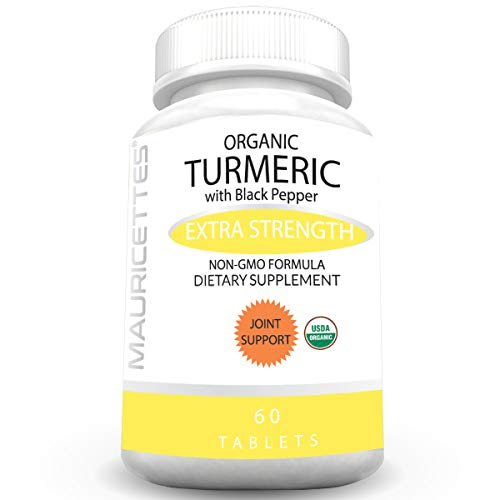 Organic Turmeric with Organic Black Pepper Highest Standard Certified USDA Organic Supplement - Powerful JointAnti-Inflammatory & Pain Relief Support (Best Painkiller For Sciatica Nerve)