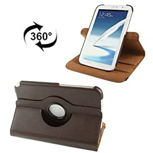 360 ° Rotatable Litchi Texture Leather Funda Case Cover + Lápiz GRATIS con Holder para Samsung Galaxy Note 8.0/N5100 (Coffee)