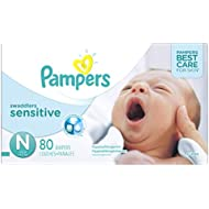 Pampers Swaddlers Sensitive Newborn Diapers Size 0,...
