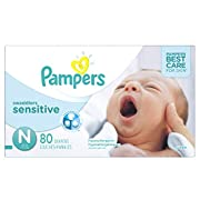 Pampers Swaddlers Sensitive Newborn Diapers Size 0, 80 Count