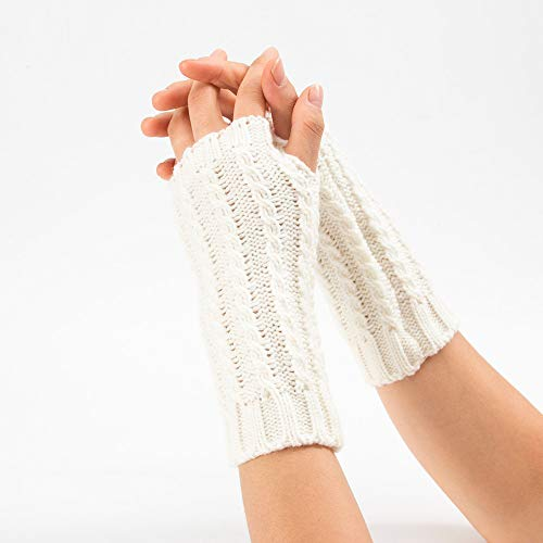 NUWFOR Ladies Sexy Seduction Leather Lace Appeal Gloves?White,21x7cm/8.3x2.8? by NUWFOR (Image #3)