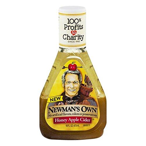 Newman's Own Salad Dressing, Honey Apple Cider Vinaigrette, 16 Ounce