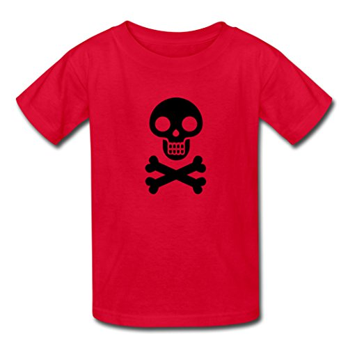 Haha-Go Boy's Halloween Clipart T-Shirts Red -
