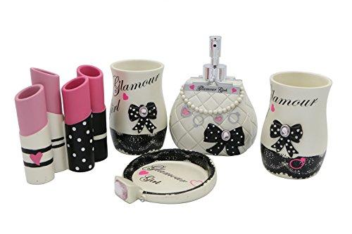 high-grade-5-pieces-bathroom-accessory-set-with-girl-lipsticks-ensembleresin-sanitary-warehome-decor