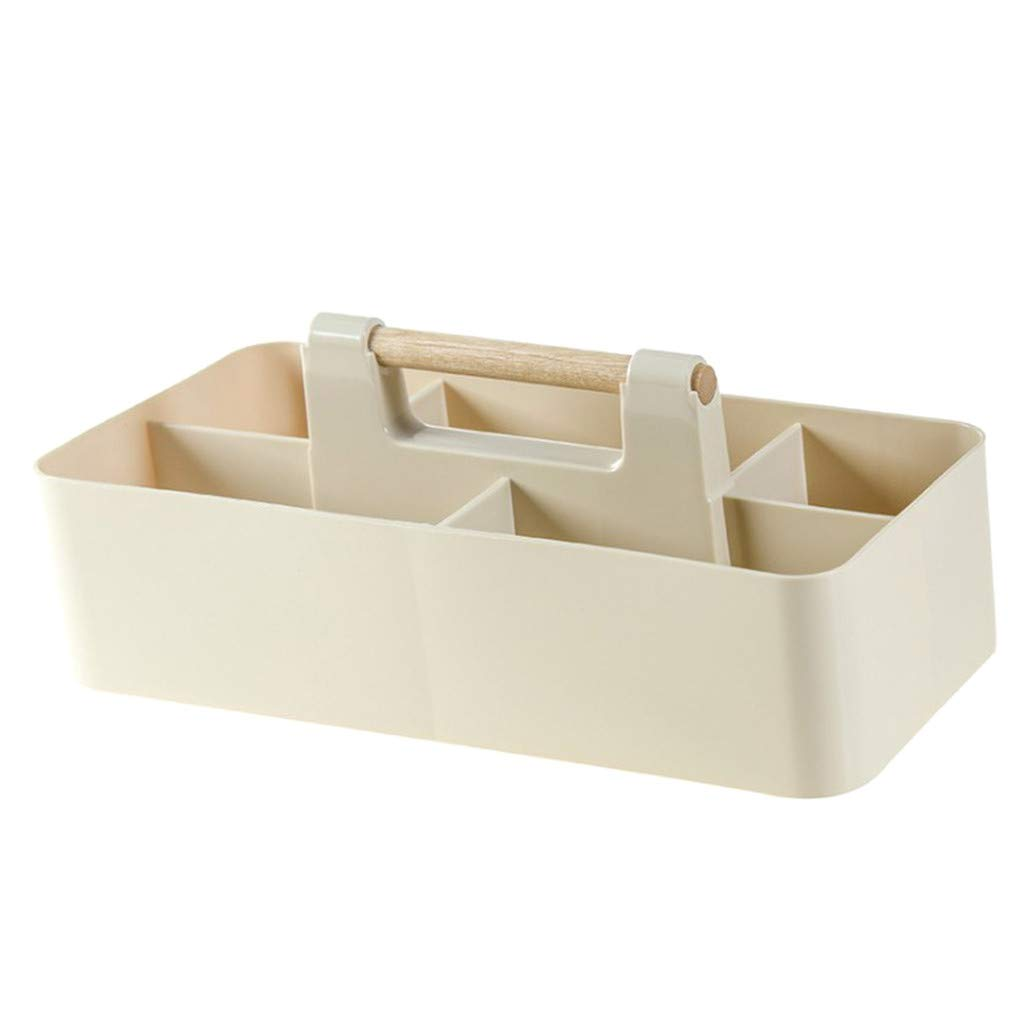 1KTon Wooden Handle Can Be Stacked Desktop Storage Box Compartment Cosmetic Storage Box Office Table Stationery Finishing Box