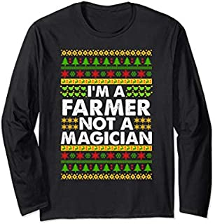 [Featured] I'm a FARMER not a Magician Ugly Christmas FARMER Long Sleeve in ALL styles | Size S - 5XL