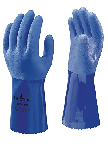 SHOWA Atlas 660L-09 Triple-Dipped PVC Coated Glove with Cotton Liner, Large (Pack of 12 Pairs) by SHOWA