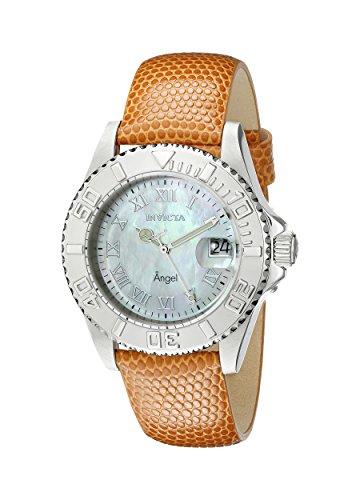 Invicta Women's 18403 Angel Analog Display Swiss Quartz Orange Watch