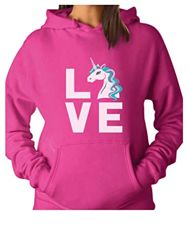 (TeeStars - I Love Unicorns - Magical Gift for Unicorn Lovers Women Hoodie Medium)
