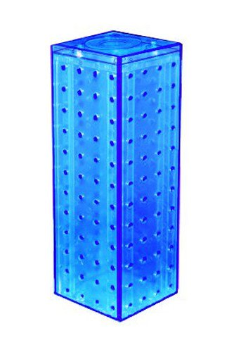 New Blue Pegboard Display Interlocking Counter Unit 4'' x 4'' x 13''on 9'' Dia Base by Pegboard Display