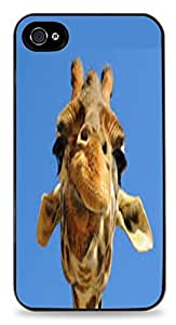 Giraffe Black 2-in-1 Protective Case with Silicone Insert for Apple iPhone 4 / 4S