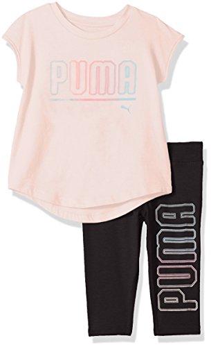 PUMA Girls 2 Piece Jersey Tee & Capri Set