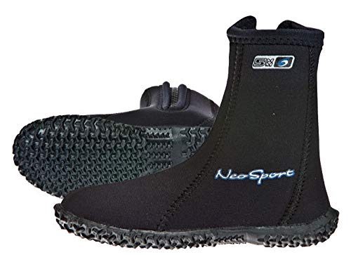 - NeoSport Wetsuits Youth Premium Neoprene 5mm Youth's Boots, Black, 1 - Water Shoes, Surfing & Diving