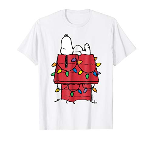 Peanuts Snoopy Christmas Lights T-shirt in 5 Colors for Men, Women and Kids