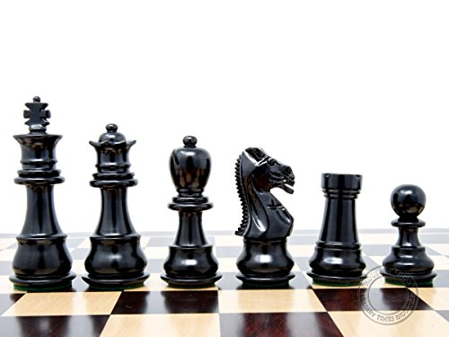 House of Chess - Ebonized / Boxwood Galaxy Staunton Wooden Chess Set Pieces King Height 3