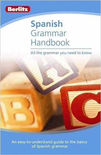 Amazon Com Spanish Grammar Handbook Handbooks 9789812686794 Berlitz Publishing Books