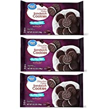 Great Value Gluten-Free Chocolate Crème Sandwich Cookies, 10.5 oz, Pack of 3
